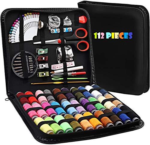 LELYFIT Kit de Costura con 112 piezas Accesorios de Costura, Caja de...