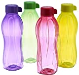Tupperware Eco Sports 1 Litre Aqua Safe Water Bottle ( Set of 4) 32 Oz