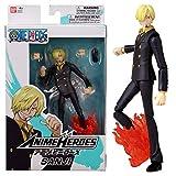Bandai One Piece-Action Figure Anime Heroes 17 cm-Sanji-36933, Colore, 36933