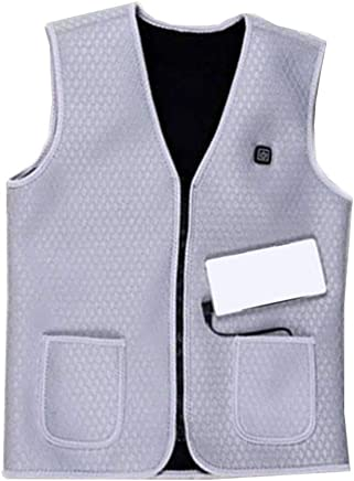 XIHAA Electric Heated Warm Vest USB, Lightweight 5V 3 Heating Levels Waterproof Windproof USB Charging Electric Heated Vest Winter For Sports Hiking