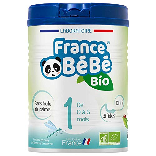 FRANCE BéBé BIO - Lait infantile pour bébé 1er âge en poudre 0 à 6 mois - Lait fabriqué en France - BIFIDUS - SANS HUILE DE PALME - 800g