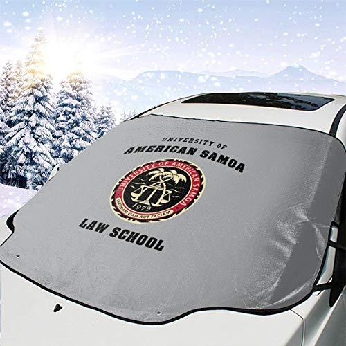Mattrey Sonnenschutz für die Windschutzscheibe der Universität des amerikanischen Samoa-Gesetzes, für Schule, Auto, Sonnenlicht, Schnee, Schwarz , Einheitsgröße
