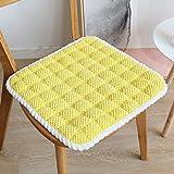 Mkuha 4er Set Stuhlkissen Sitzkissen mit Haltebändern, Warm Kordhose Sitzauflage für Innen Büro...