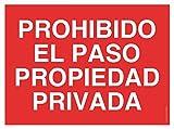 WOLFPACK LINEA PROFESIONAL 15051252 Cartel Prohibido el Paso Propiedad Privada, 30 x 42 cm