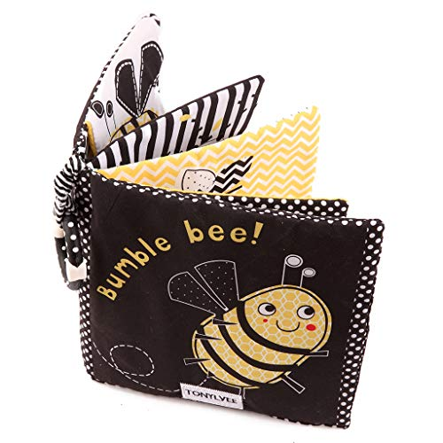 Amycute Crinkle Baby Cloth Books for Babies Toddlers, Nontoxic Soft Fabric...