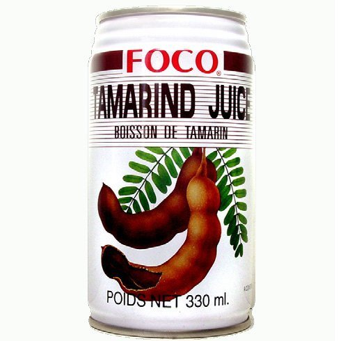 Six pack of Foco Tamarind Juice Drink 11.8 Oz - 350 ml Cans