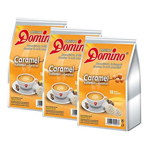 3x DOMINO Kaffeepads Karamell (á 18 Pads)