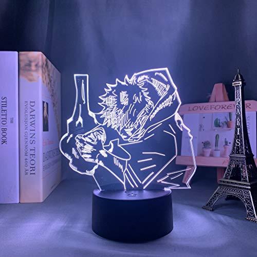 Lámpara de anime Jujutsu Kaisen Luz de noche LED para decoración de dormitorio Luz de noche Luz de regalo de cumpleaños Jujutsu Kaisen Envío de la gota, 7 colores sin control remoto