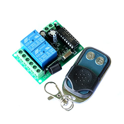 Pixnor 12V 10A 2 Canale Universale Per Cancelli Garage Opener Wireless Telecomando Interruttore + Trasmettitore