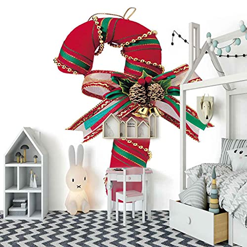 FVGKYS 3D Murales Papel Pintado Autoadhesivo Pared Calcomanías Pared Infantil Dormitorio Juvenil Bastón De Navidad Simple Personalizado Interior Sala De Estar Fondo Papeles De Pared 400x280cm