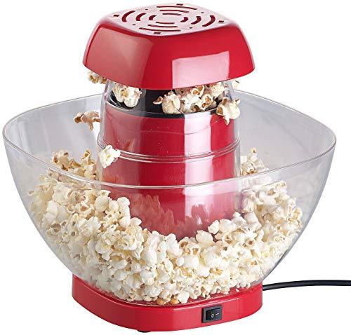 Rosenstein & Söhne Macchina per popcorn: Macchina per popcorn ad aria calda con vassoio antigoccia, per 80 g di mais, 1200 watt (Retro macchine per popcorn ad aria calda)