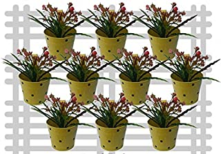 Railing planter impex Round Dotted Railing Planter/Plant pots (Yellow, Pack of 10)?
