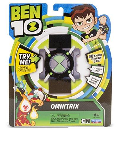 Ben 10- Basic Omnitrix Reloj con luz y Sonido, Color Negro/Verde/Gris/Blanco, Miscelanea (Giochi Preziosi BEN04000)