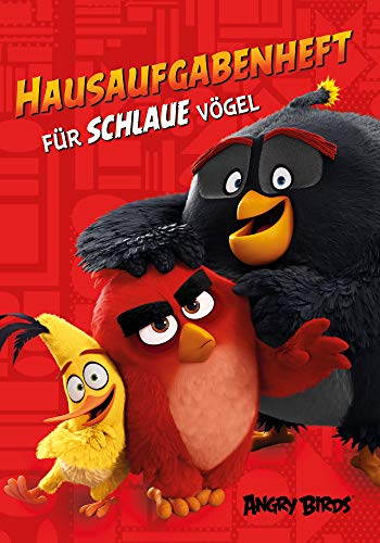 Angry Birds Hausaufgabenheft DIN A5 Grundschule, mit Wochenplaner, 96 Seiten, Notizheft Schulheft für Schule - Red, Chuck & Bomb 95ro16081