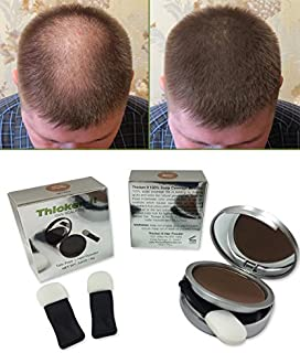 Thicken It 100% Scalp Coverage Hair Powder - MEDIUM BROWN - Talc-Free .32 oz. Water Resistant Hair Loss Concealer for men and women. Naturally Thicker Than Hair Fibers & Spray Concealers