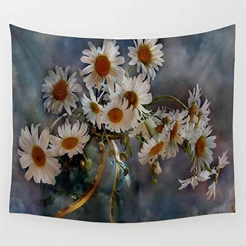 Fundas de sofá con diseño de margaritas y flores, manta de viaje de 90 x 70 pulgadas