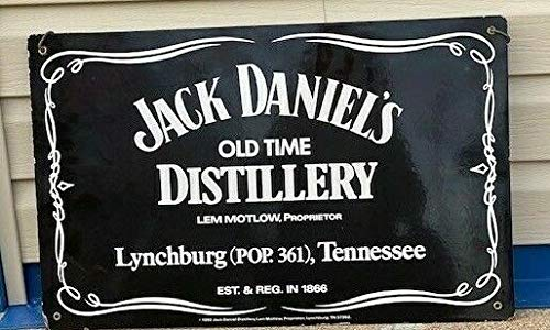 JTY store Vintage Wandkunst Dekor Zeichen Jack Daniels Tennessee Whiskey Black Logo Home Bar Pub Club Cafe Man Cave Dekor 20CM X 30CM Metal Tin Sign Blechschild TJ-14