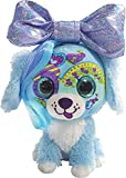 Little Bow Pets Stuffed Animals - Soft Fluffy Plush Blue Puppy Dog Heart Bow Pet with Purple Sparkle Surprise Bow - 2 Surprise Toys Inside Bow
