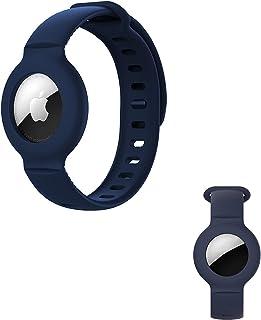 Apple Airtags保护套GPS跟踪表壳,防丢定位器Airtag轻量级表带,适用于蹒跚学步的婴儿,小孩,儿童,长者