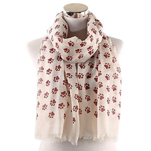 Xu Yuan Jia-Shop Moda Bufanda Chal Moda Linda Bufanda Mujeres Pasos Impresos Chal Amantes Primavera Invierno Suave Mujeres Bufandas Bufanda acogedora (Color : D)