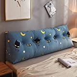Reading Upholstered Triangular Reading Pillow Large Bolster Headboard Queen Size Gap Filler for Adults Dorm Office Mother's Day Lumbar Double Sofa Beds with Removable Cover