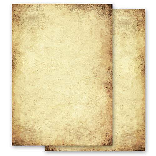 100 Blatt Briefpapier Antik & History ALTES PAPIER - DIN A6 Format - Paper-Media