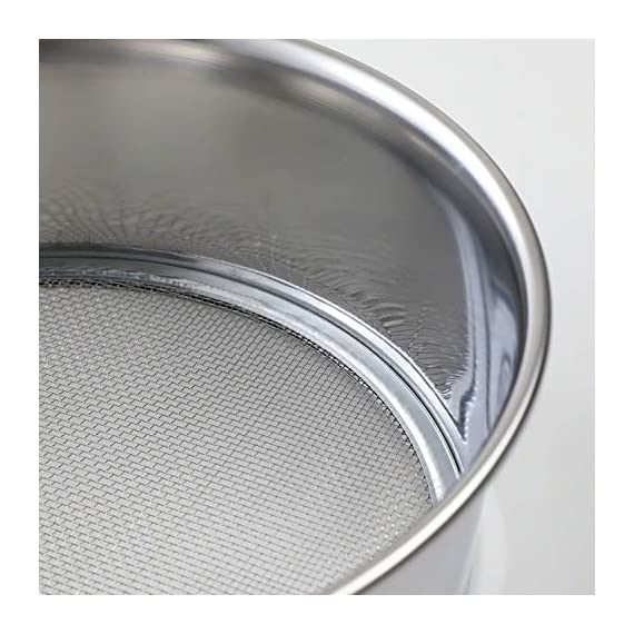 Hanafubuki wazakura 3pcs soil sieve set 8-1/4inch(210mm), made in japan, 3 sieve mesh filter sizes, japanese bonsai… 6 size: φ8. 26 x h 2. 55 in (φ210mm x 65mm)   sieve mesh sizes: 0. 04 in (1mm) 0. 11 in (3mm) 0. 19 in (5mm)   weight: 8. 6oz (245g)   material: frame - stainless steel, sieve mesh - iron made in japan