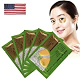 Baisidai Pack of 10/20/30/40 Pairs Collagen Crystal Eye Mask Eyelid Patch Deep Moisture Anti Wrinkle (10PCS, Gold)
