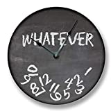 Whatever Wall Clock Black Chalkboard Image Teacher Student Gift