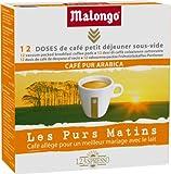 Malongo Café Petit déjeuner allegé Purs Matins 12 doses