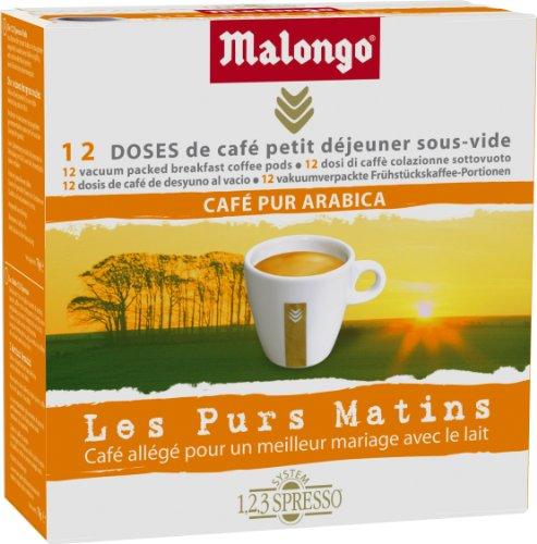 Malongo Café Petit déjeuner allegé Purs Matins 12...