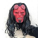 XWYWP Maschera di Halloween Regina del Sangue Maschera Cosplay Chiamata di Oscurità Maschere in Lattice Casco Horror Halloween Partito Puntelli Goccia Nave Hellboymask