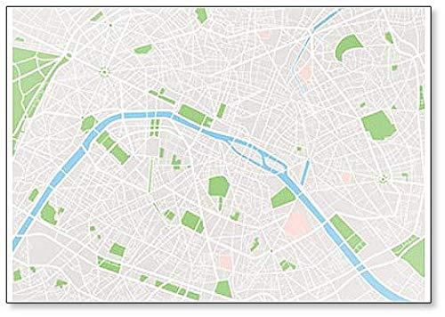 Paris City Map - Koelkast Magnet