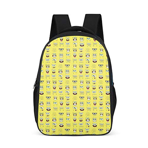 Cyliyuanye Sponge Baby Face Fashion Kids' Backpack School Book Bag For kids Adults Gift For Boys Girls bright gray onesize