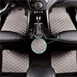 Qiaodi Alfombrillas para Lexus LC LC500 LC500h Antideslizantes de Goma de PVC para Coche, Resistentes, fáciles de Limpiar, Tapetes Delanteros y Traseros (4 Piezas Gris)