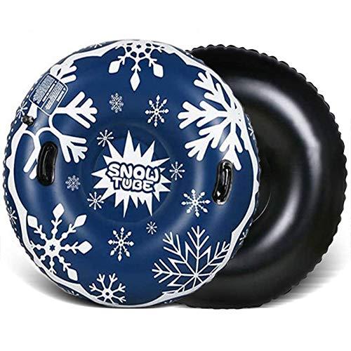 Hengjierun 45 Zoll Aufblasbare Schneeröhre Für Kinder Und Erwachsene, Hochleistungsverdickte Skischlauchschlitten Mit Griffen Für Winter Outdoor Schneesportspielzeug
