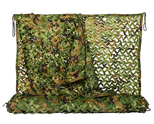 Find Cheap Camo Netting 6.5x10ft Woodland Camouflage Net for Camping Military Hunting Shooting Sunscreen Nets