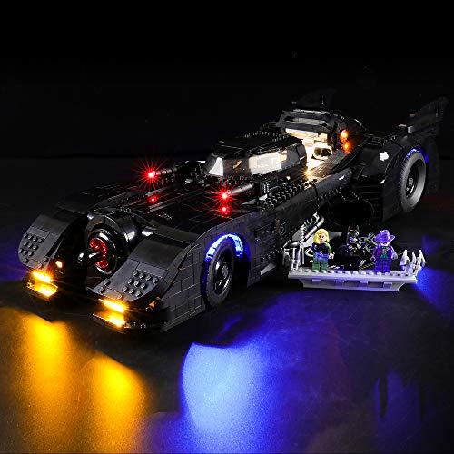 BRIKSMAX Kit de Iluminación Led para Lego Batmobile,Compatible con Ladrillos de Construcción Lego Modelo 76139, Juego de Legos no Incluido