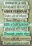 DCine Cuadro Frases/Frases positivas/Cuadro Madera/Regalo/Normas del hogar/Normas de...