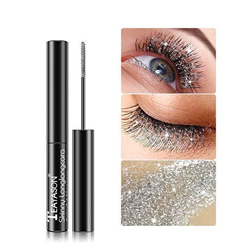 Diamond Glitter Lashes Mascara Shiny Star Diamond Mascara Wasserfeste Wimpern-Make-up-Creme, lang anhaltendes sexy charmantes Augen-Make-up für Disco & Party