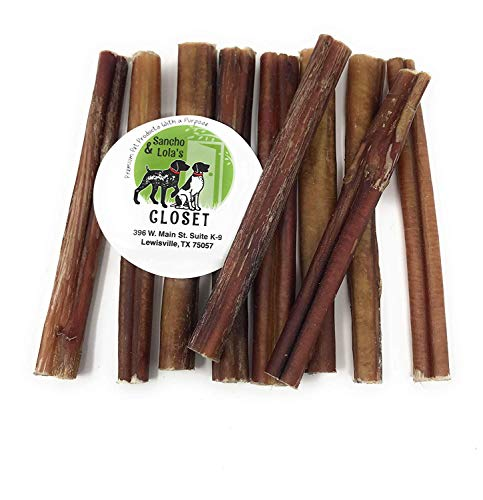 Sancho u0026 Lola's Bully Sticks for Dogs Moderate Odor High-Protein Grain-Free Beef Pizzle Dog Chews