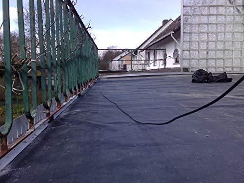 Rosis Garten EPDM Folie 3,05 Meter x 5 Meter 1,14mm Stärke für Carport, Garage, Dach, Dachbegrünung