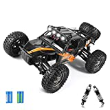 【Ideal Remote control car】Accelerated by 390 motor and 7.4V powerful batteries, this RC car reaches speed at 38KM/H and 260 feet radio control range. Our Protector remote control car permits an over 30 mins playtime with two rechargeable batteries su...
