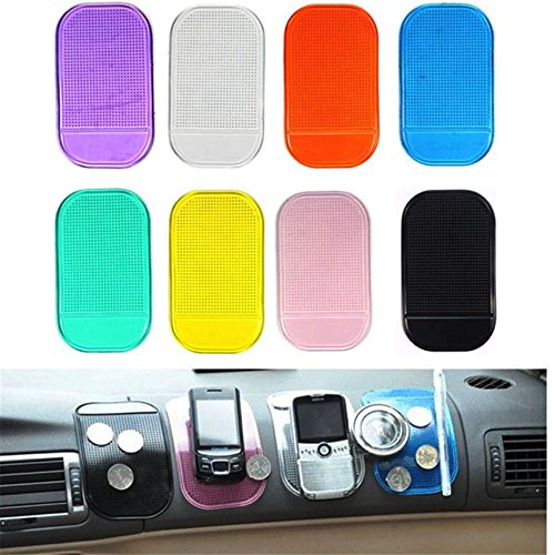 Antirutschmatte aus Silikon für Auto, rutschfest, Handy-Halterung für Münzen, Schlüssel, schwarz, transparent, orange, violett, grün durchsichtig