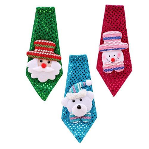 3 corbatas para niños y adultos, corbata de Navidad, decoración ...