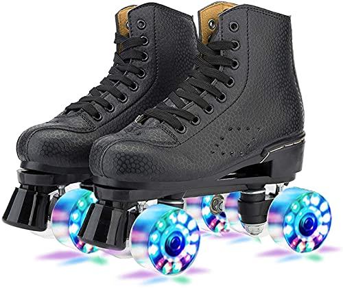 Rolschaatsen Dames, Rolschaatsen Schoenen,Rolschaatsen Voor Kinderen,Unisex Schaatsen,Schoenen met Wielen,Quad…