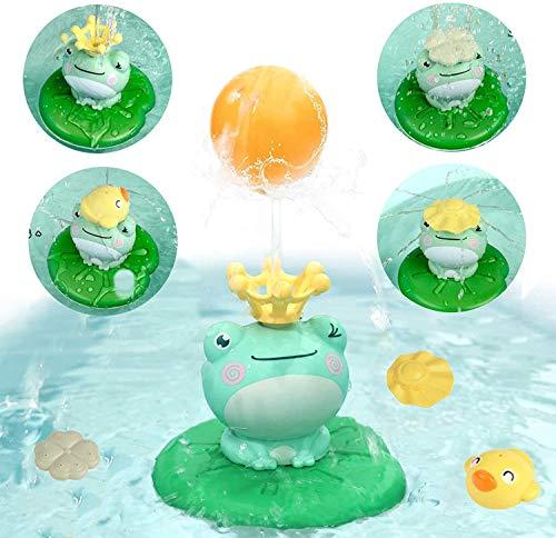 CESHMD Baby Bad Spielzeug Schwimmende Elektrische Wasserspray Spielzeug Badewanne Wasserspielzeug für Kinder 2 3 4 5 Jahre (Keine Batterie) (Frosch)