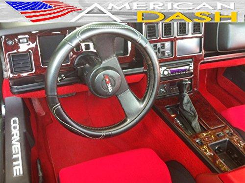 Chevrolet Chevy Corvette C-4 Interior Wood Dash Trim Kit Set 1986 1987 1988 1989
