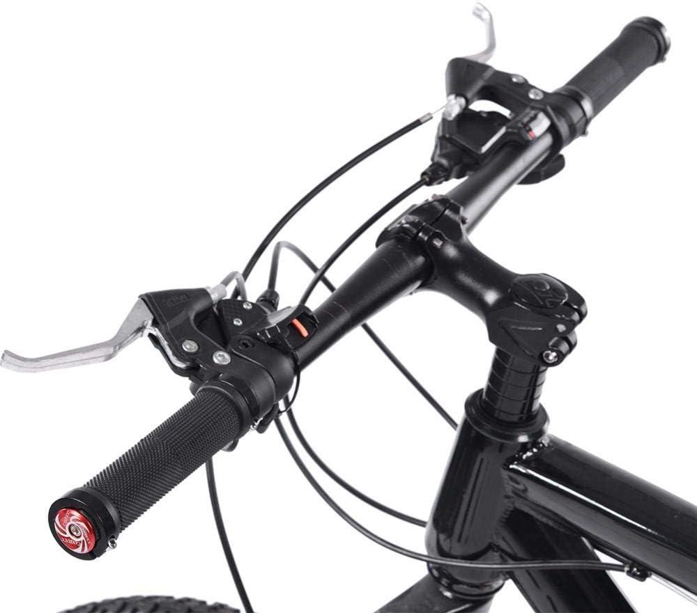 Tbest Pu/ños de Manillar de Bicicleta,1 Par Apretones de Ciclismo Empu/ñaduras de Bicicleta de Monta/ña de Carretera Antideslizante Enchufes de Extremo de Ciclismo Agarre de Manillar de Bloqueo