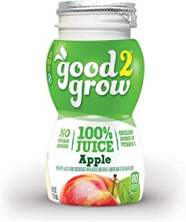 good2grow 100% Apple Juice Refill, 24-pack of 6-Ounce BPA-Free Juice Bottles, Non-GMO..
